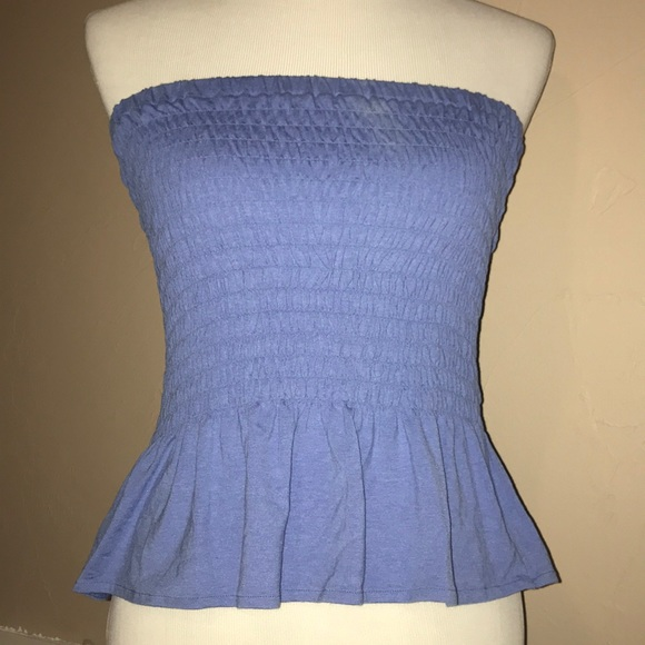 Rue21 Tops - Scrunched blue tube top